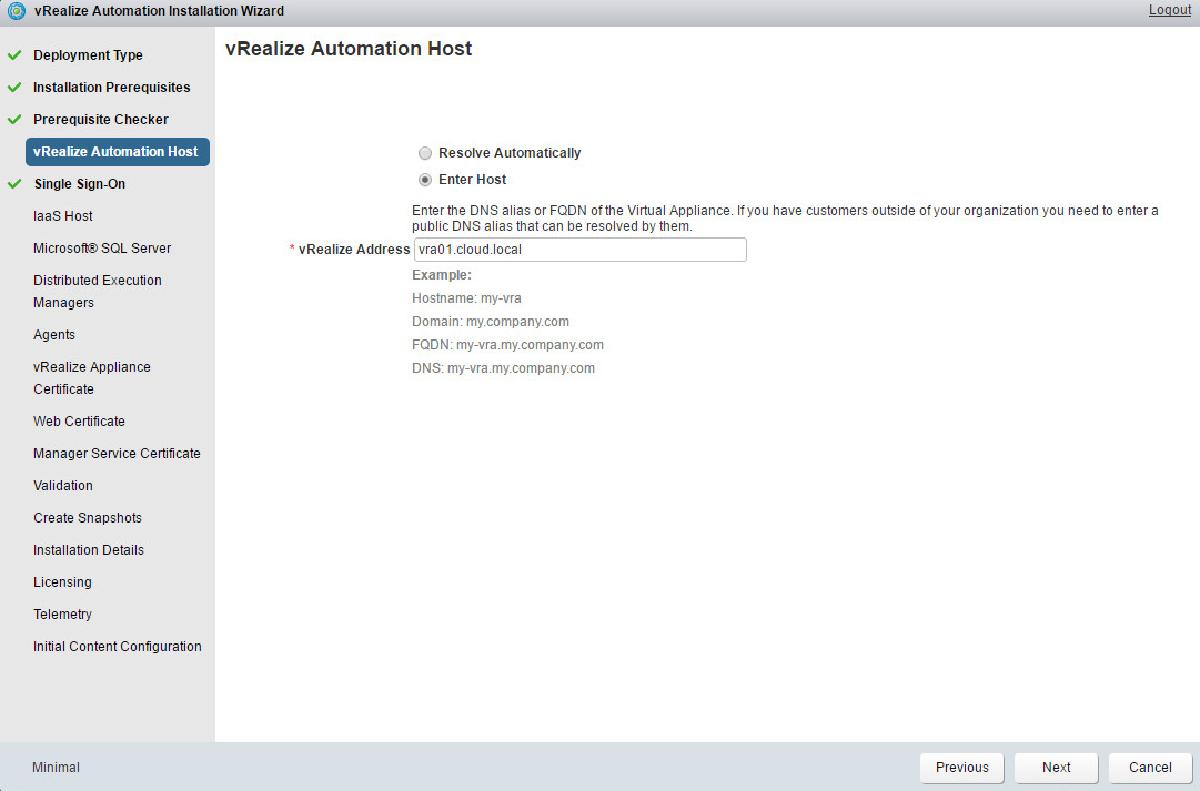 vRealize – Virtual Village